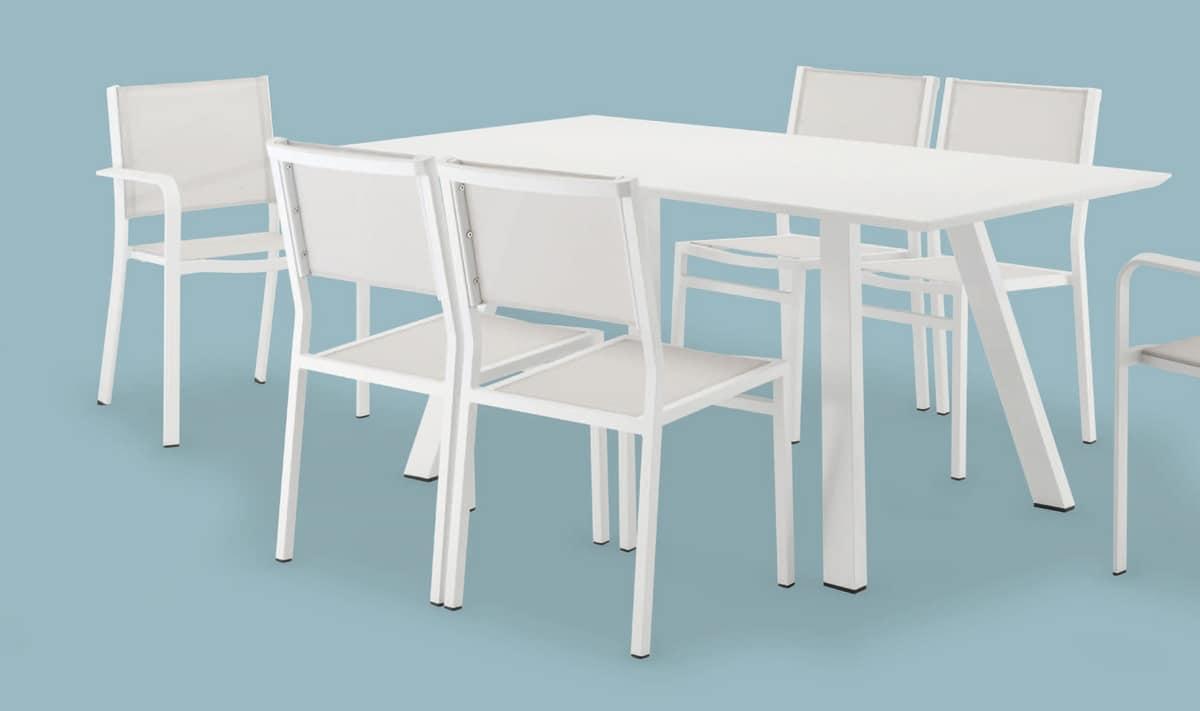 FT 742, Aus lackiertem Aluminium Tisch, für Bars und Gärten