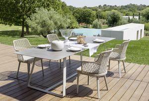 Kolonaki, Tisch mit Stahlgestell für den Außenbereich