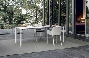 Maki outdoor, Gartentisch mit elegantem Design