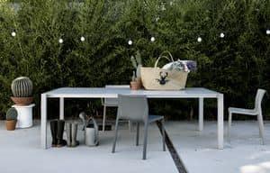 Sushi Outdoor, Ausziehbarer Tisch minimalistisch, für Gärten und draußen