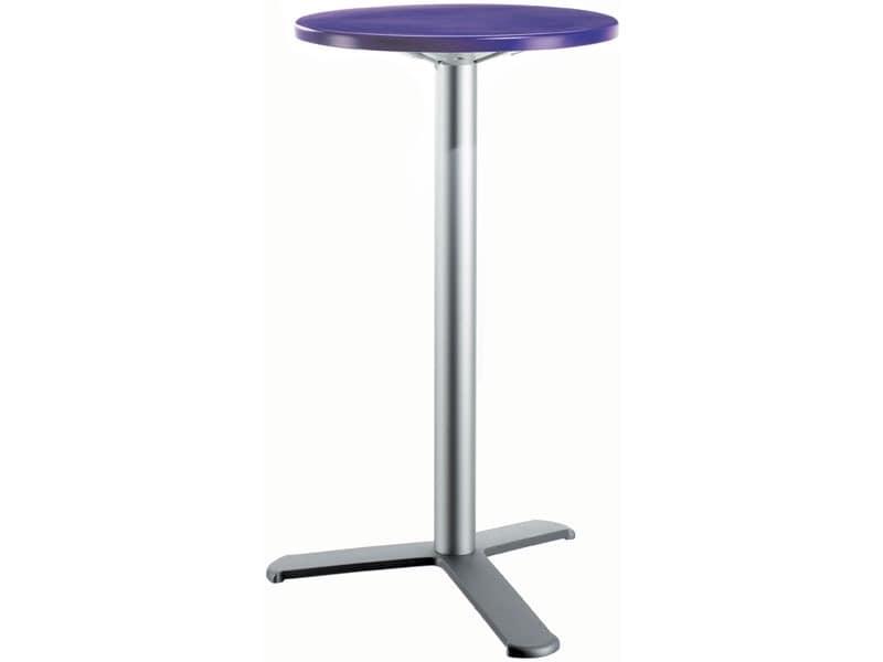 Table Ø 60 h 110 cod. 08/BG3L, Moderner Beistelltisch für Imbiss