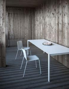 Thin-k Longo Outdoor, Designtisch mit umfangreichem und dünnem Top, für Außenseite