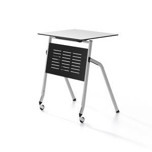 Pitagora, Tisch mit Faltverdeck, stapelbar horizontal, für Klassenzimmer und Konferenzraum