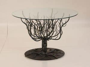 Arbore, Tabelle mit Struktur mit Ästen, Schmiedeeisen, im Freien