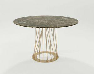 Burgos, Tisch mit Eisengestell und runder Platte