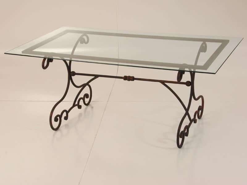 Outdoor tisch aus eisen mit glasplatte idfdesign - Tavoli da pranzo ferro battuto e vetro ...