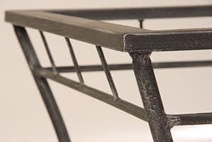 Modern Table, Tisch mit Glasplatte für den Außenbereich