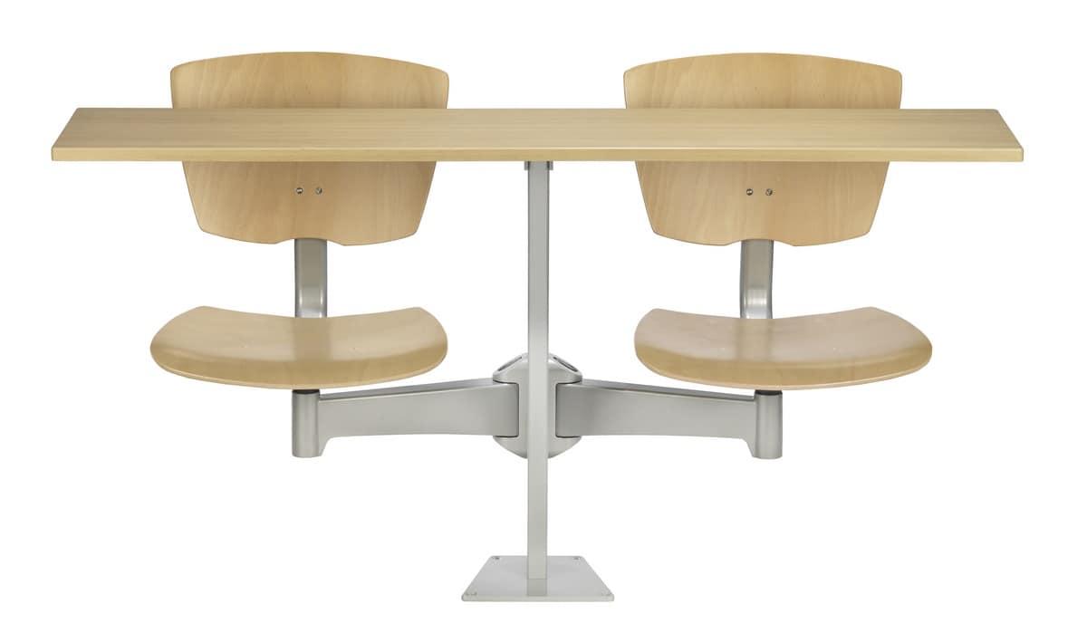 beweglichen tisch mit 2 st hlen schule und kantine idfdesign. Black Bedroom Furniture Sets. Home Design Ideas