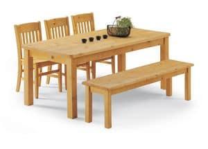 Sammlung Tischbeine, Tisch Tisch voll Kiefer, für Blockhäuser