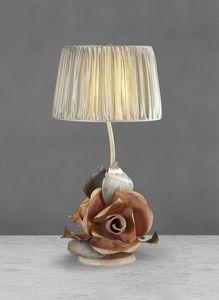 Art. 3011-03-00, Eisentischlampe mit Rosen