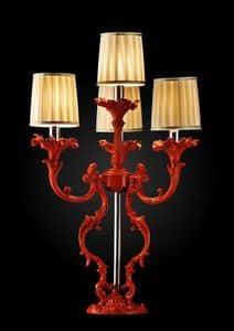 Art. Coral, Rote Tischlampe, Finish mit korallenroten Effekt