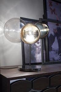 ATOMO, Glastischleuchte mit 3 Leuchten