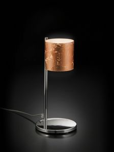 BRICK H 32, Tischlampe mit dekoriertem Glasschirm