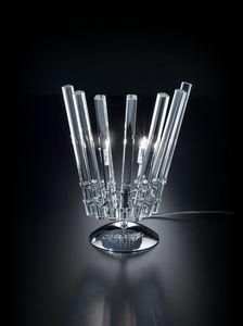 CIRCLE L 28, Tischlampe aus transparentem Kristall