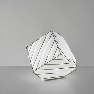 Dado Rt431-030, Tischlampe aus Metall und weißem Glas
