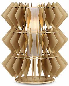 Diamante new Tischleuchte, Tischleuchte mit Rhombus-Anhängern