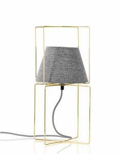 Kengo, Tischlampe mit Lampenschirm aus Stoff