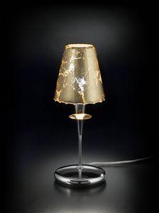 OPERA H 35, Tischlampe mit Lampenschirm in Blattgold