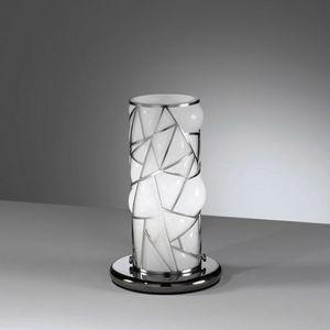 Orione Rt387-020, Tischlampe mit dekorativem Metallgrill