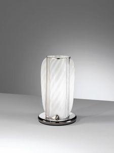 Orione Rt389-020, Handgefertigte Tischlampe aus weißem Glas
