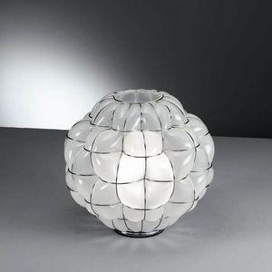 Pouff Rt383-035, Tischleuchte aus antikem geätztem Glas