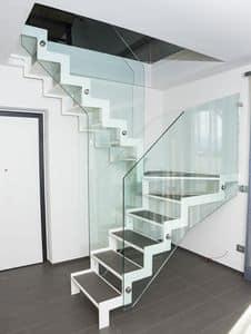 Rezeption und lobby Treppen Glas Freitragend | IDFdesign