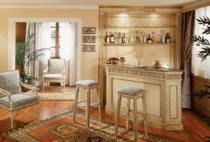 Collezione Ginevra, Individuelle Möbel für Bar, knisterte lackiert boiserie