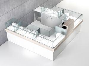 Quadratum frame comp. 07, Hufeisenförmiger Zähler, für Einkaufszentren