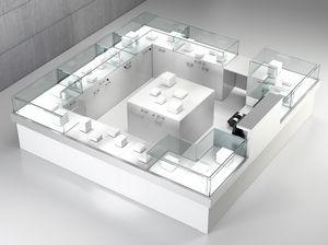 Quadratum frame comp. 09, Platzzähler für Geschäfte, mit Zentralschrank