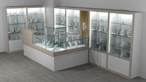 Quadratum frame comp. 10, Wand- und Display-Theken für Geschäfte