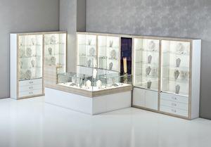 COM/QF13, Corner Holztheke für Juweliere und Geschäfte