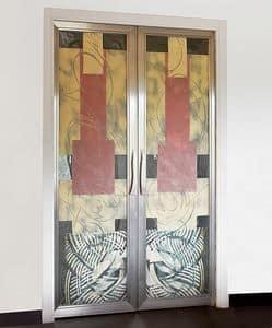 treppe mit gel nder aus stahl und metallstufen idfdesign. Black Bedroom Furniture Sets. Home Design Ideas