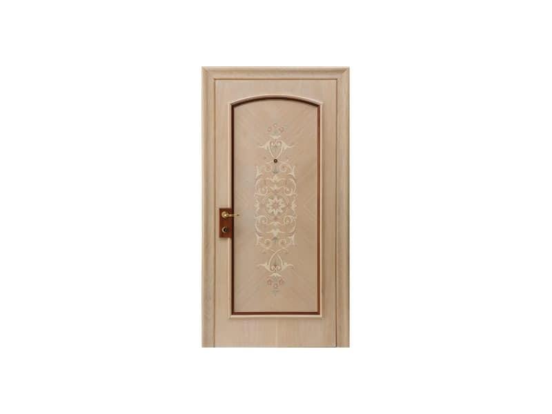 Cannes, Tür mit handgefertigten Inlays, klassischen Stil, für den renommiertesten Hotels