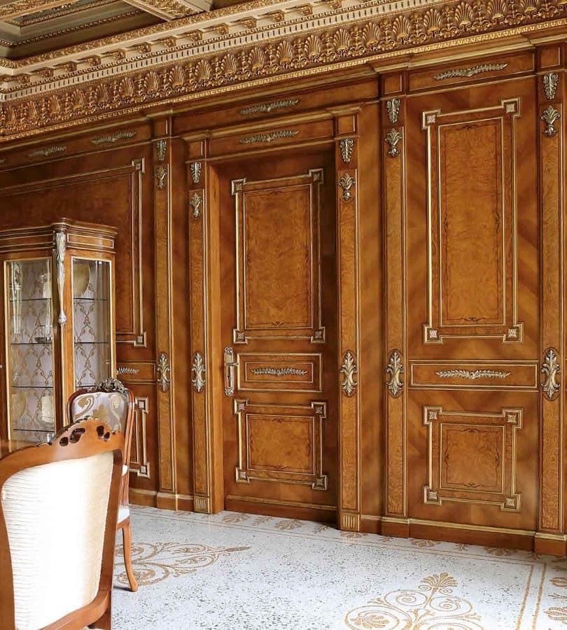 klassischer t r in rosenholz und movingui geschnitzt idfdesign. Black Bedroom Furniture Sets. Home Design Ideas