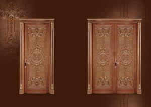 P100 Tür, Geschnitzte Tür zum Wohnzimmer in klassischen Luxus-Stil