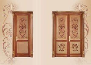 P108 Tür, Tür in Einlegearbeiten aus Holz, klassischen Luxus-Stil