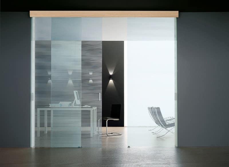 SIMPLEX sliding doors, Schiebetür, aus gehärtetem Glas, verschiedenen Ausführungen