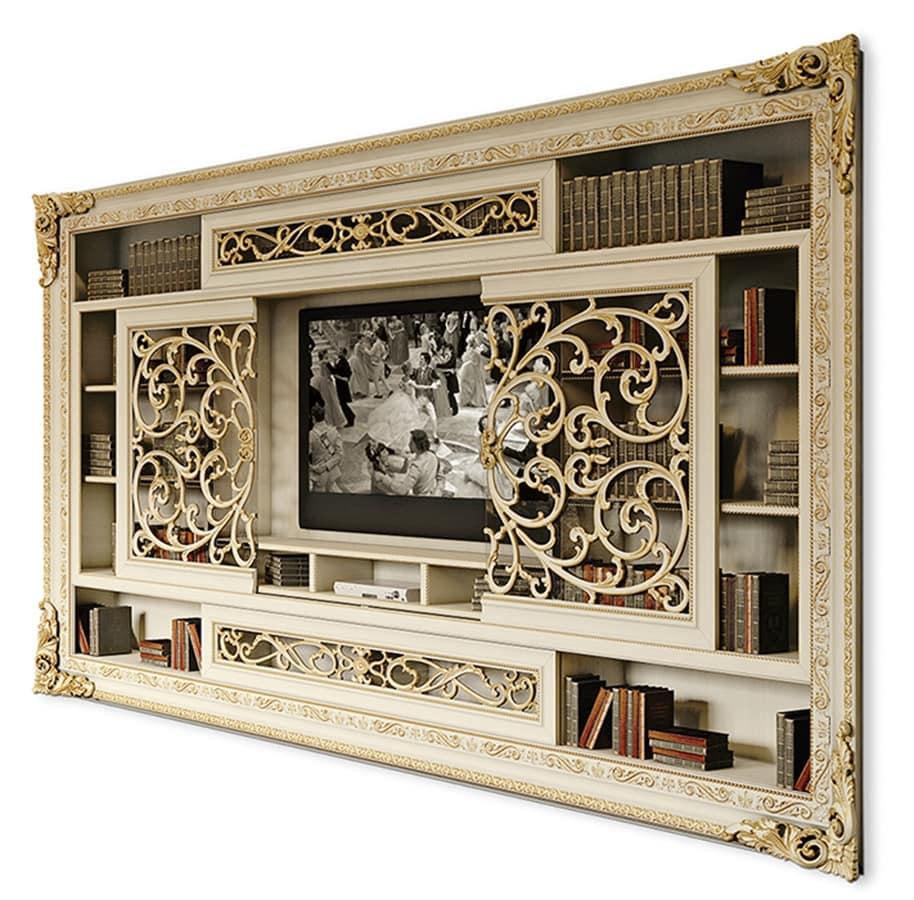 tv schrank mit schiebet ren idfdesign. Black Bedroom Furniture Sets. Home Design Ideas