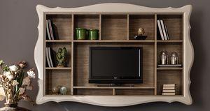 Alice Art. 524, Hängendes Bücherregal mit TV-Ständer