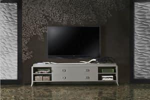 Art. VL143, TV-Ständer Basis aus lackiertem Holz, mit Schubladen
