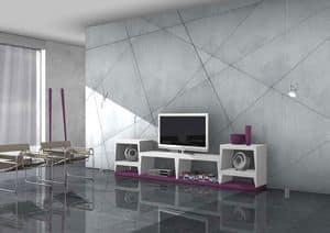 Blank, TV-Ständer aus lackiertem Laminat
