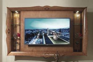 CN03 Charme, TV-Schrank in eingelegtem Holz, für Luxus-Hotels