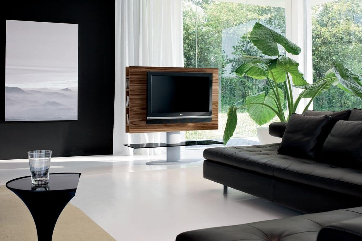 tv m bel f r wohnzimmer mit regal idfdesign. Black Bedroom Furniture Sets. Home Design Ideas