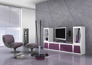 Cube, Modulares TV-Ständer in matt Laminat