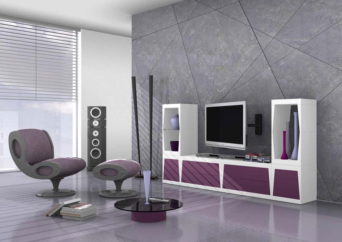modulares tv st nder in matt laminat idfdesign. Black Bedroom Furniture Sets. Home Design Ideas
