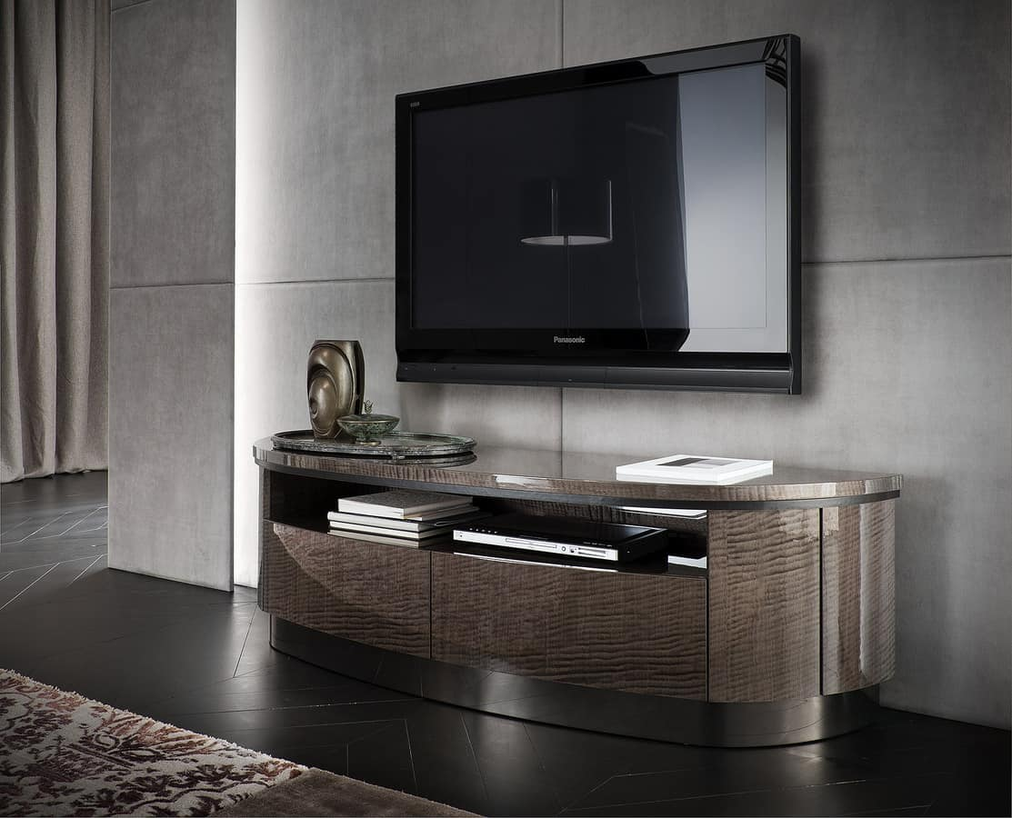 Crescent Tv Stander Mit Frise Effekt Idfdesign