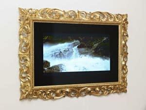 FELD FÜR TV ART. CRTV 0014, Klassische geschnitzten Rahmen für die Luxus-Salons