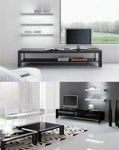 MIAMI tv stand, TV-Ständer für den Wohnbereich, Metallstruktur