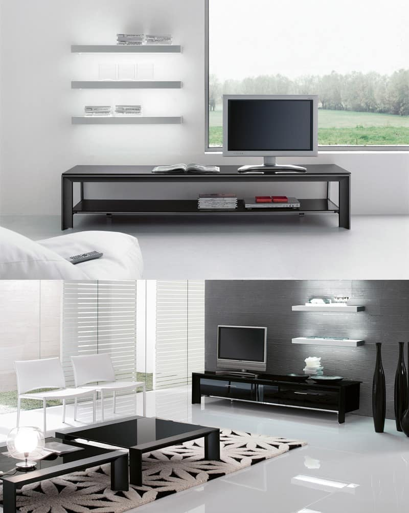 tv st nder f r den wohnbereich metallstruktur idfdesign. Black Bedroom Furniture Sets. Home Design Ideas