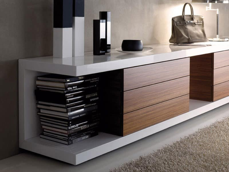 tv st nder aus lackiertem f r moderne wohnzimmer idfdesign. Black Bedroom Furniture Sets. Home Design Ideas
